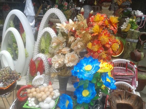 pot de fleure à la foire de l'indépendance du Bénin