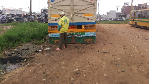 urine et pollution à cotonou